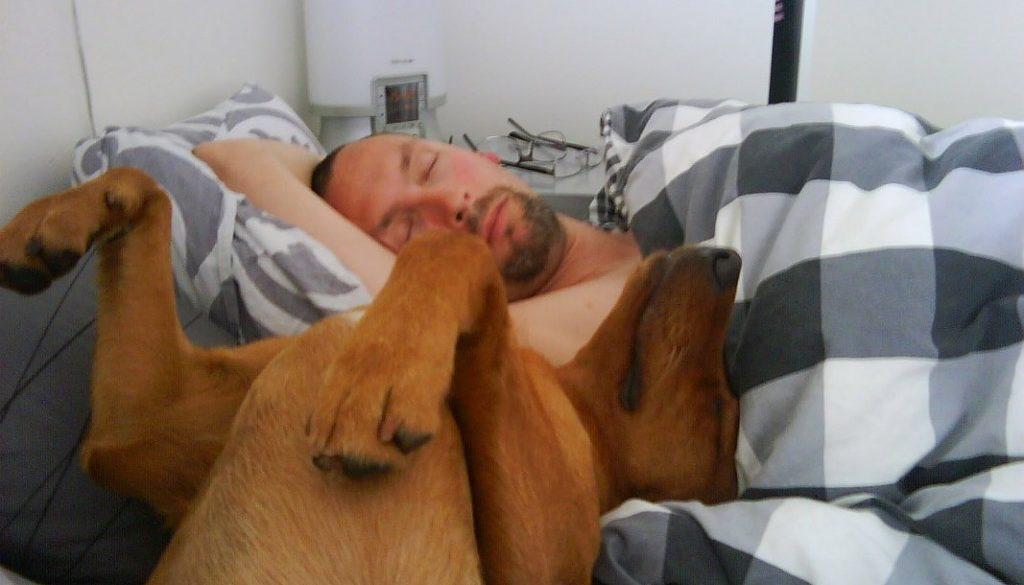Vi sov i 2,5 timme. Vad matte gjorde? Igen aning.