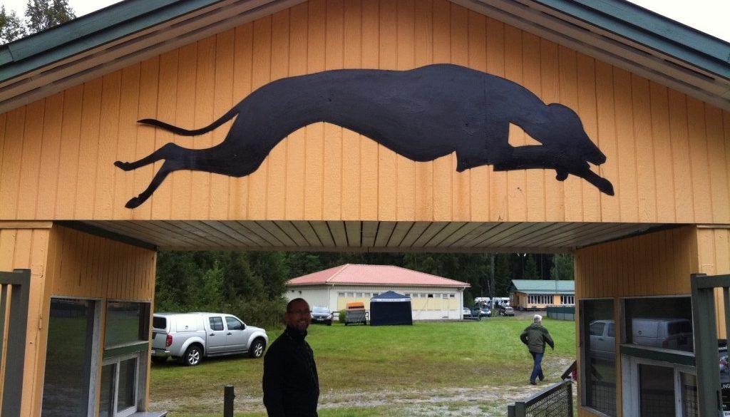 Husse å matte tittade på Greyhound SM i Borås.