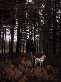 Jag och husse i skogen