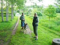 Anneli och Djiin på besök