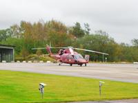 Helikopter på Säve