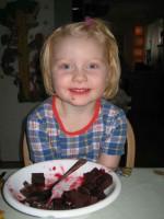 Ida äter blodpudding