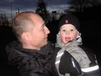 Mattias och en glad Adam
